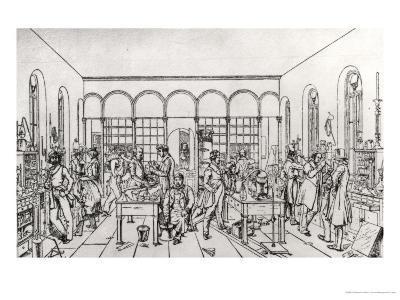 View of the Chemistry Laboratory of Baron Justus Von Liebig at Giessen-Carl Friedrich Wilhelm Trautschold-Giclee Print