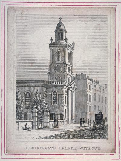 View of the Church of St Botolph Without Bishopsgate, City of London, 1830--Giclee Print