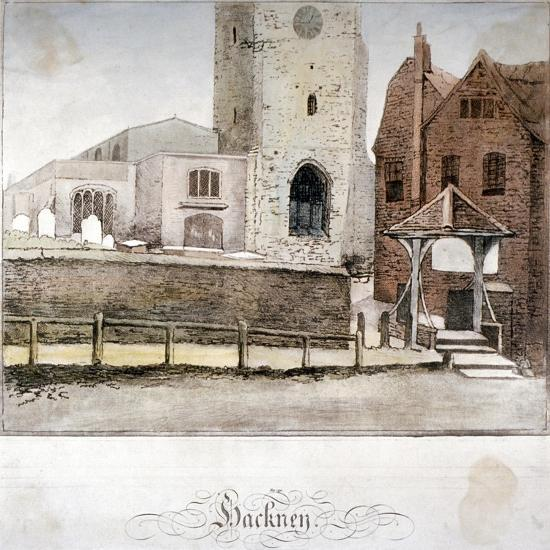 View of the Church of St John at Hackney, London, C1795--Giclee Print