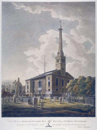 View of the Church of St John Horsleydown, Bermondsey, London, 1799-John William Edy-Giclee Print