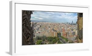 View of the city from Sagrada Familia, Barcelona, Catalonia, Spain