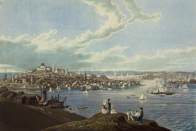 View of the City of Boston from Dorchester Heights-Robert Havell-Art Print