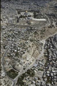 View of the City of David, with the Old City of Jerusalem in the Background