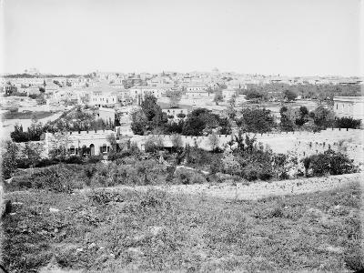 View of the City of Jerusalem from the Golgotha, Between 1870 and 1880--Giclee Print