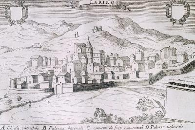 View of the City of Larino, Molise, from the Kingdom of Naples in Perspective-Giovan Battista Pacichelli-Giclee Print