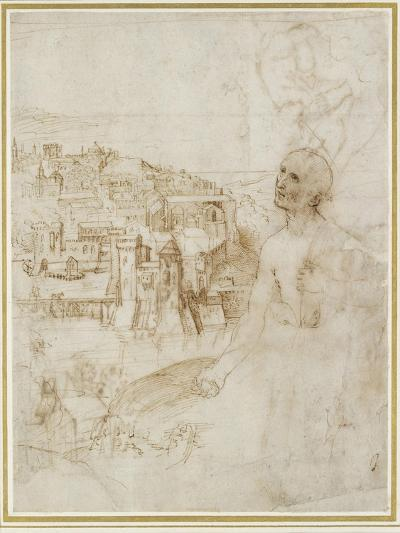 View of the City of Perugia-Raphael-Giclee Print