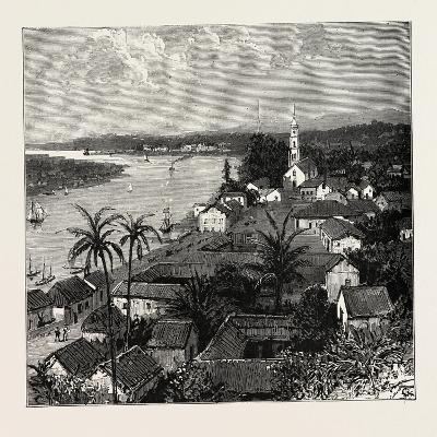 View of the City of Tuxpan from Observatory Hill, Looking West, Mexico, 1888--Giclee Print