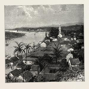 View of the City of Tuxpan from Observatory Hill, Looking West, Mexico, 1888