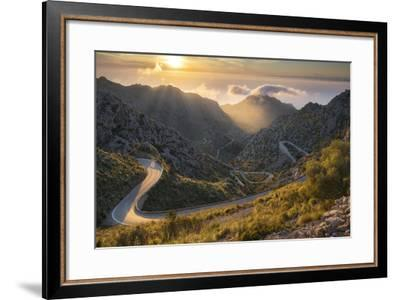 View of the Coll Des Reis, Tramuntana, Majorca, the Balearic Islands, Spain-Rainer Mirau-Framed Photographic Print