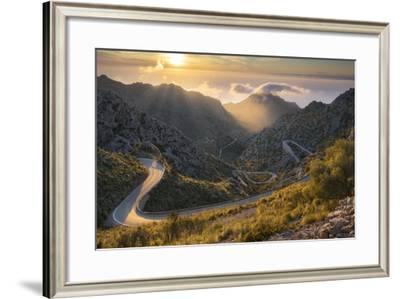 View of the Coll Des Reis, Tramuntana, Majorca, the Balearic Islands, Spain-Rainer Mirau-Framed Photographic Print