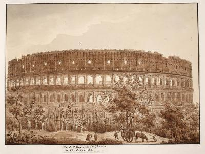 View of the Colosseum from the Baths of Titus, in the Year 1788, 1833-Agostino Tofanelli-Giclee Print
