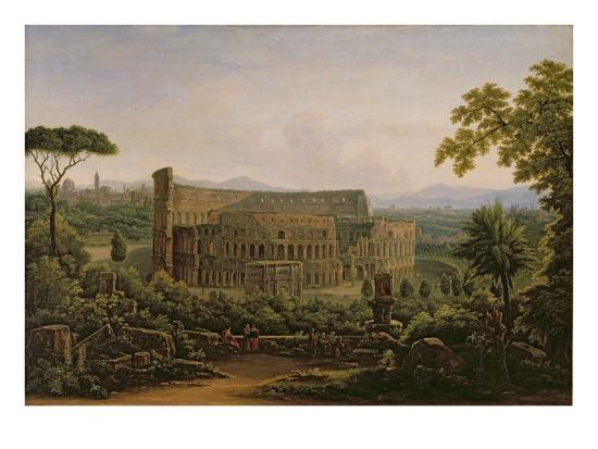 View of the Colosseum from the Palatine Hill, Rome, 1816-Fedor Mikhailovich Matveev-Giclee Print