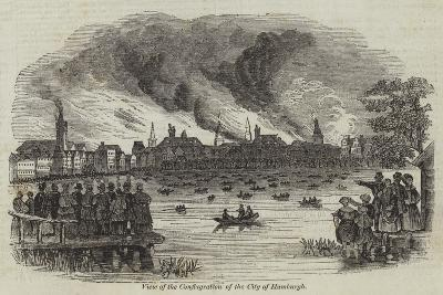 View of the Conflagration of the City of Hamburgh--Giclee Print