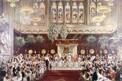 View of the Coronation Luncheon for King George V and Queen Mary Consort, London, 1911--Giclee Print