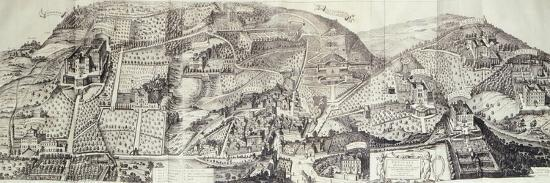 View of the Countryside around Frascati and Villa Mondragone-Matteo Greuter-Giclee Print