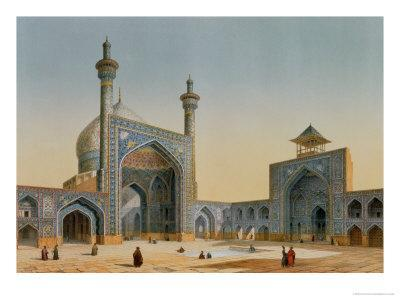"View of the Courtyard of the Mesdjid-I-Shah, Isfahan, from ""Modern Monuments of Persia""-Pascal Xavier Coste-Premium Giclee Print"