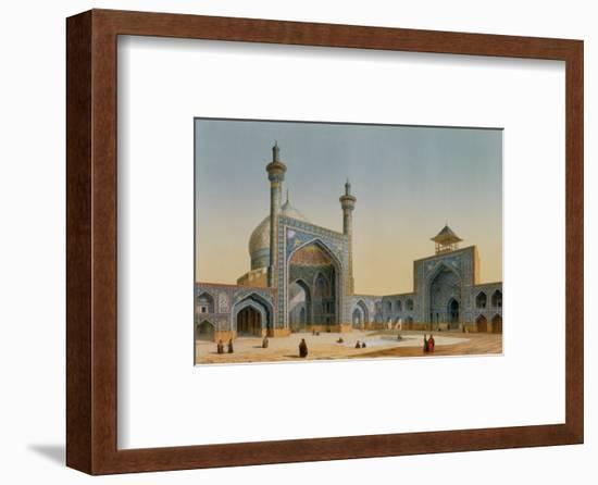 """View of the Courtyard of the Mesdjid-I-Shah, Isfahan, from """"Modern Monuments of Persia""""-Pascal Xavier Coste-Framed Premium Giclee Print"""