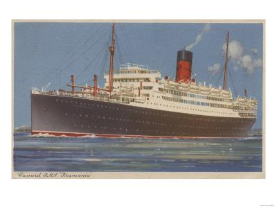 View of the Cunard R.M.L. Franconia Cruise Ship-Lantern Press-Art Print