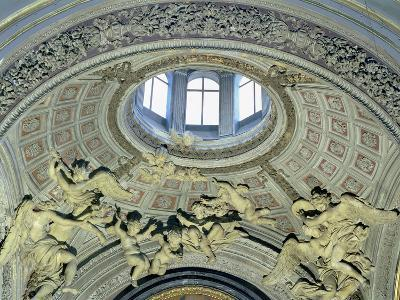 View of the Cupola with Angel Musicians from the Fonseca Chapel-Giovanni Lorenzo Bernini-Giclee Print