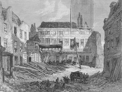 View of the Demolition of the Saracen's Head Inn, Snow Hill, City of London, 1868--Giclee Print