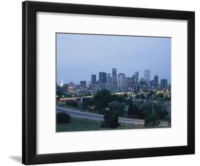 View of the Denver Skyline at Twilight-Richard Nowitz-Framed Photographic Print