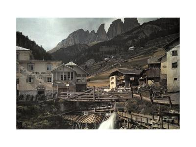 View of the Dolomites Mountains from Campitello-Hans Hildenbrand-Photographic Print