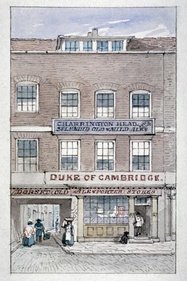 View of the Duke of Cambridge Tavern, Shoe Lane, City of London, C1840-James Findlay-Giclee Print