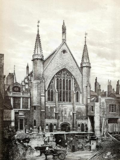 View of the East End of Guildhall and the Old Library, City of London, 1886--Giclee Print
