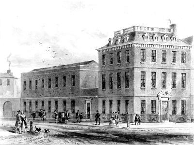 View of the East Side of Soho Square, 1850--Giclee Print