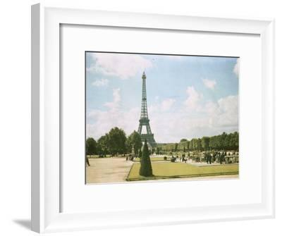 View of the Eiffel Tower from a Park-W^ Robert Moore-Framed Photographic Print