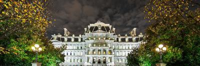 View of the Eisenhower Executive Office Building at Night-Babak Tafreshi-Photographic Print