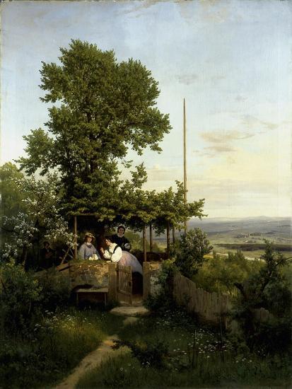 View of the Elbe Valley-Eduard Leonhardi-Giclee Print