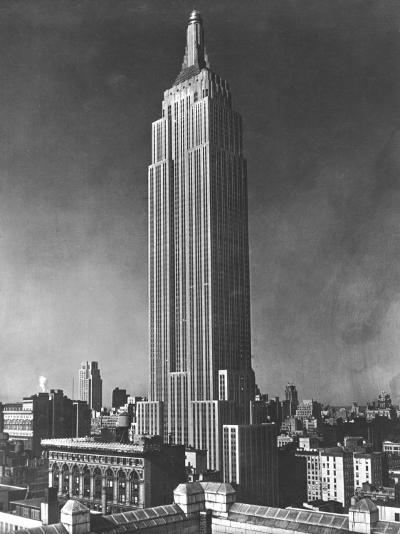 View of the Empire State Building in New York City--Photographic Print