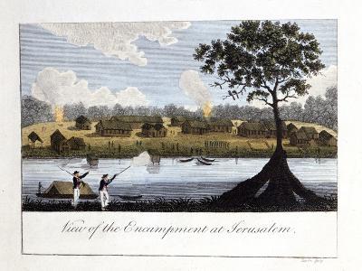 View of the Encampment at Jerusalam, 1813-John Gabriel Stedman-Giclee Print