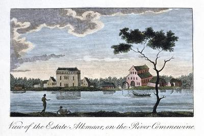 View of the Estate Alkmaar, on the River Commewine, 1813-John Gabriel Stedman-Giclee Print