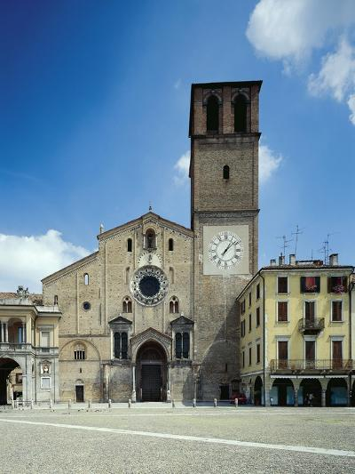 View of the Facade of the Cathedral Basilica of the Assumption of the Blessed Virgin Mary--Giclee Print