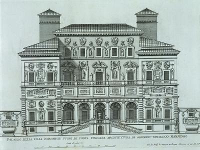View of the Facade of Villa Borghese, Rome--Giclee Print