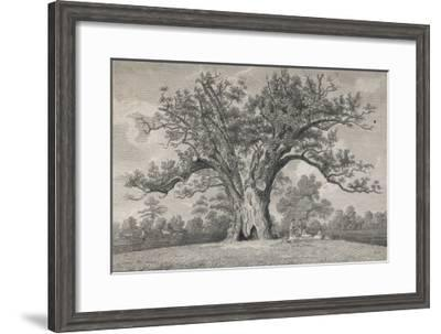 View of the Fairlop Oak in Epping Forest- Dayes-Framed Giclee Print