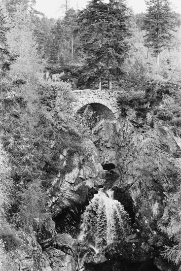 View of the Falls of Bruar in Perthshire, Scotland. Circa 1960-Howard Jones-Photographic Print