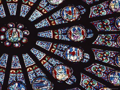 View of the Famed Rose Window in Notre Dame Cathedral, France-Peter Carsten-Photographic Print