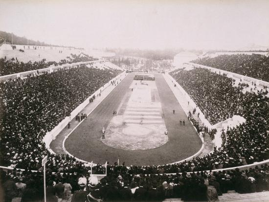 View of the first modern Olympic Games in Athens, 1896-Unknown-Photographic Print