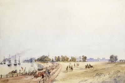 View of the Fort and Town, Calcutta, 1854-Charles Walters D'Oyly-Giclee Print