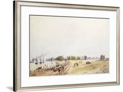 View of the Fort and Town, Calcutta, 1854-Charles Walters D'Oyly-Framed Giclee Print
