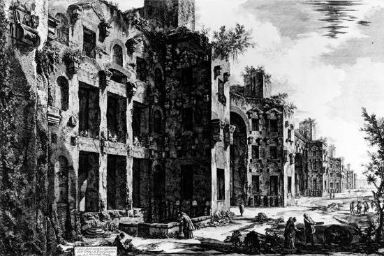 View of the Frigidarium at the Baths of Diocletian, from the 'Views of Rome' Series, C.1760-Giovanni Battista Piranesi-Giclee Print