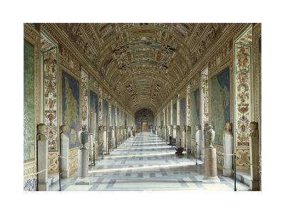 View of the Gallery of Maps, Frescoed with Maps on the Walls--Giclee Print