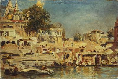 View of the Ghats at Benares, 1873-Edwin Lord Weeks-Giclee Print