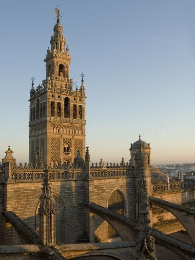 View of the Giralda Tower and the Rooftop of the Cathedral of Seville-Krista Rossow-Photographic Print