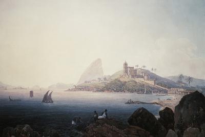 View of the Gloria Church and Sugarloaf Mountain, Rio De Janeiro-Thomas Ender-Giclee Print