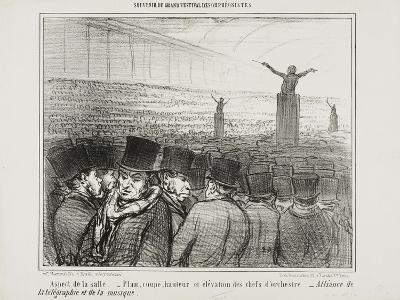 View of the Grand Hall, Plate 1 from Souvenir Du Grand Festival Des Orphéonistes, 1859-Honore Daumier-Giclee Print