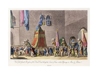 View of the Grand Procession of the Sacred Camel Through the Streets of Cairo-Cooper Willyams-Giclee Print